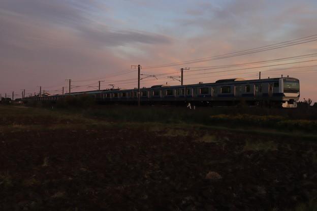 日没前のE531系 2019.11.17