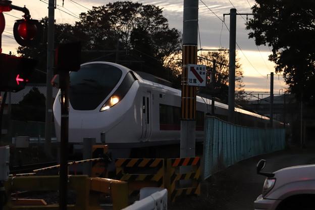 日没前のE657系 2019.11.17