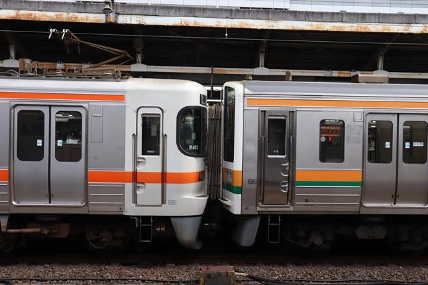 313系と211系の連結部