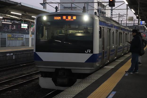 常磐線 E531系K457編成 330M 普通 上野 行 2019.12.30