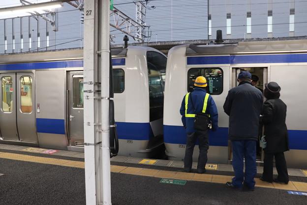 常磐線 E531系 330M 土浦駅での増結作業終了 2019.12.30