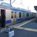 常磐線 中距離列車 終点上野到着 降車終了後ドア閉め