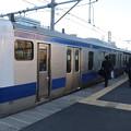 常磐線 中距離列車 終点上野到着 折り返し運転準備