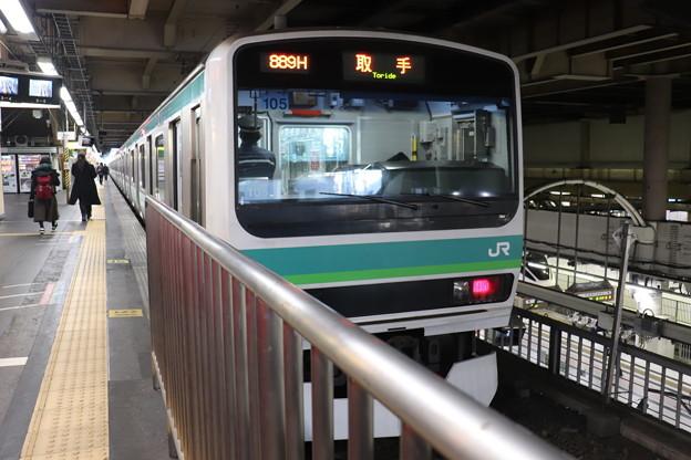 常磐快速線 E231系マト105編成