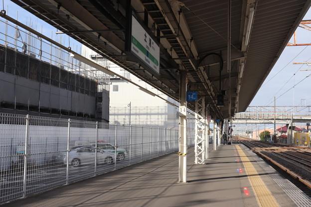 土浦駅1番線ホーム