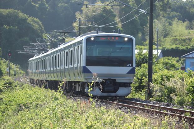 水戸線 E531系3000番台K555編成 755M 普通 友部 行 2020.06.07