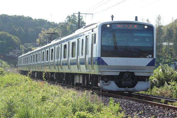 水戸線 E531系3000番台K555編成 755M 普通 友部 行 2020.06.07 (1)
