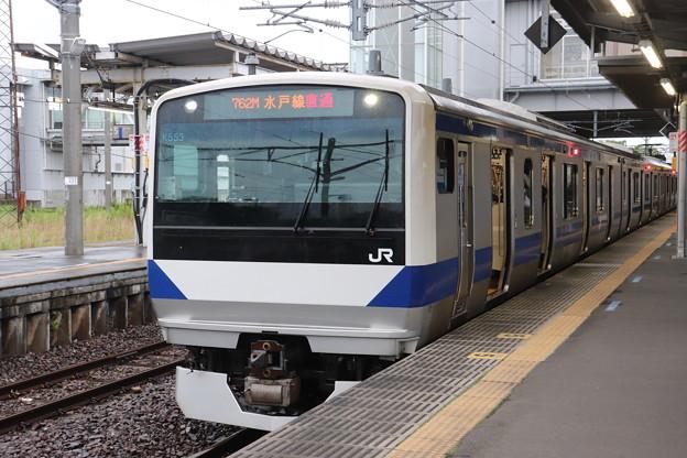 水戸線 E531系3000番台K553編成 762M 普通 小山 行 2020.07.06