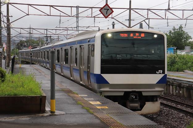 水戸線 E531系3000番台K551編成 757M 普通 友部 行 2020.07.06