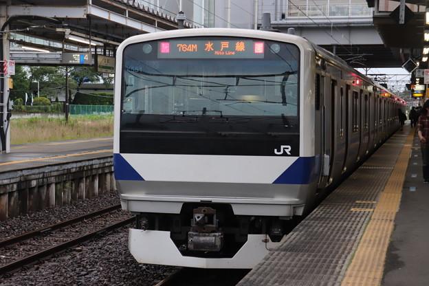 水戸線 E531系3000番台K551編成 757M 普通 友部 行 後追い 2020.07.06