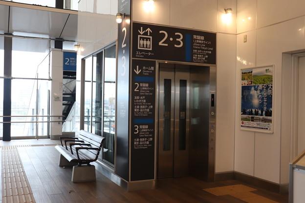 常磐線 神立駅2番線・3番線ホーム エレベーター