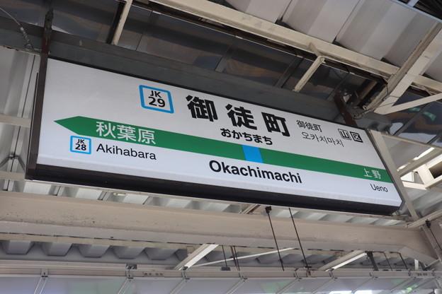 京浜東北線 御徒町駅 JK29 駅名標