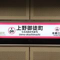 Photos: 都営地下鉄大江戸線 上野御徒町駅 E09 駅名標