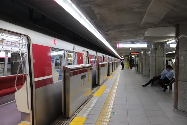 都営地下鉄大江戸線 都庁前駅3番線ホーム