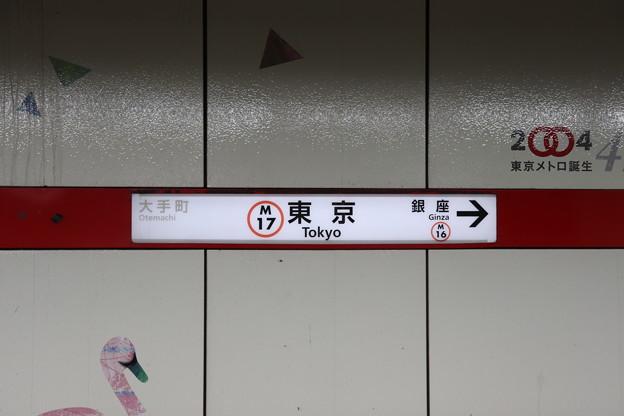 東京メトロ丸ノ内線 東京駅 M17 駅名標