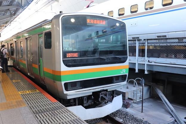 上野東京ライン E231系1000番台K-30編成 1573E 普通 沼津 行 2020.08.29 (1)