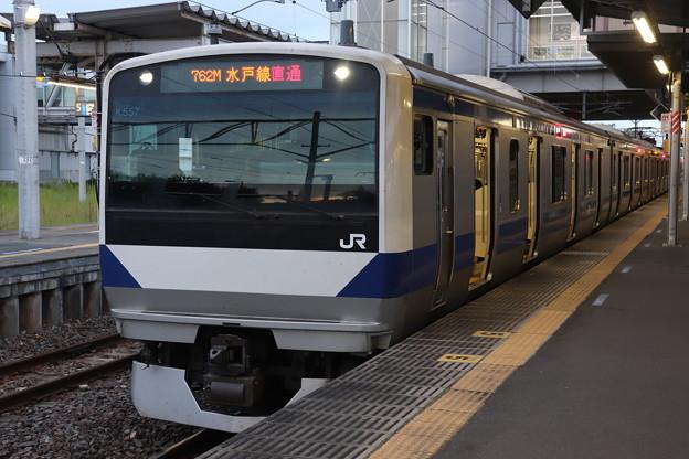 Photos: 水戸線 E531系3000番台K557編成 762M 普通 小山 行 2020.08.31