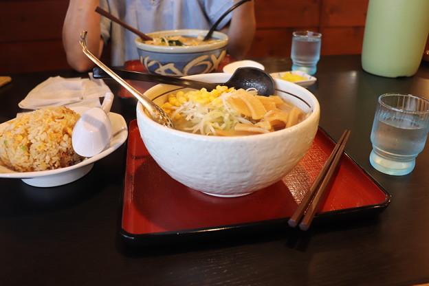 らーめんげんき屋 味噌ラーメン メンマ・コーントッピング