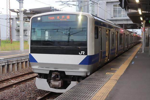 水戸線 E531系3000番台K552編成 730M 普通 小山 行 2020.09.19