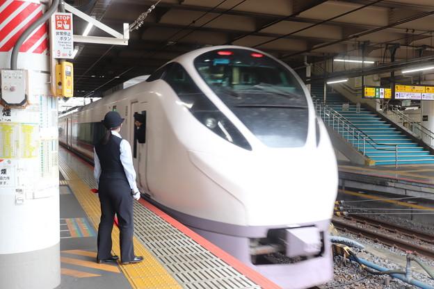 特急ときわ58号上野駅発車