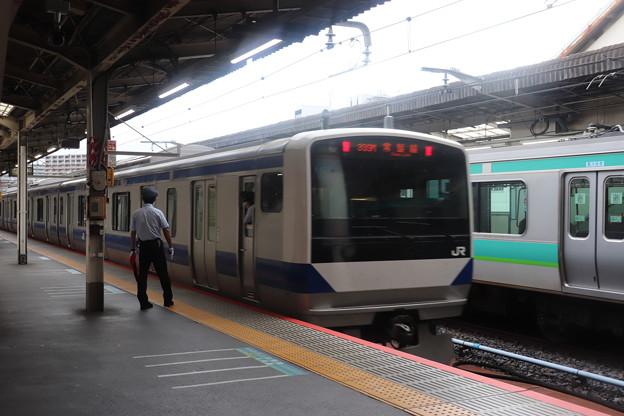 常磐線中距離電車 上野駅発車
