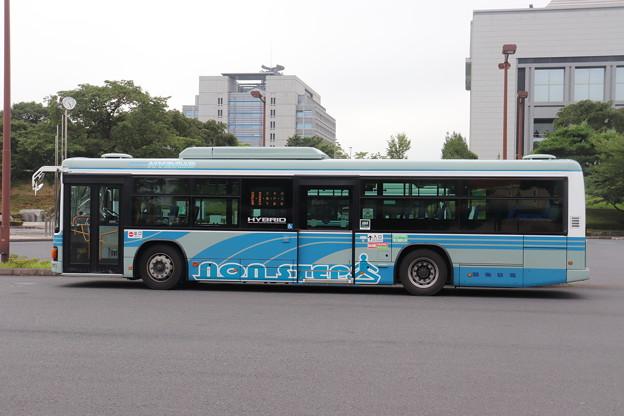 関東鉄道 いすゞ・エルガハイブリッド側面