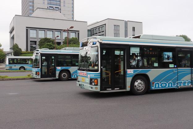 関東鉄道 いすゞ・エルガ 並び