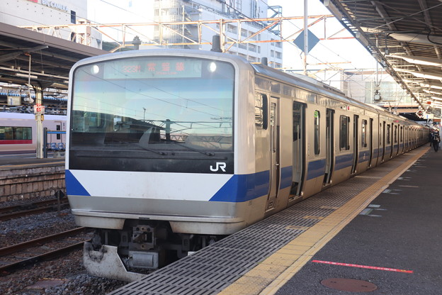 Photos: 常磐線 E531系K407編成 323M 普通 高萩 行 2021.01.14