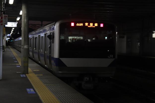 常磐線 E531系K412編成 444M 普通 上野 行 2021.01.14