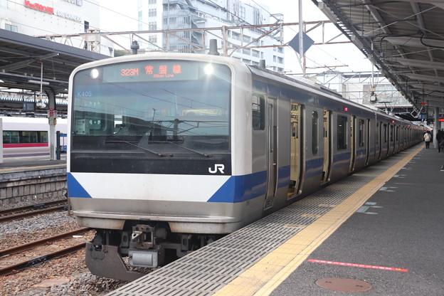 常磐線 E531系K405編成 323M 普通 高萩 行 2021.01.15
