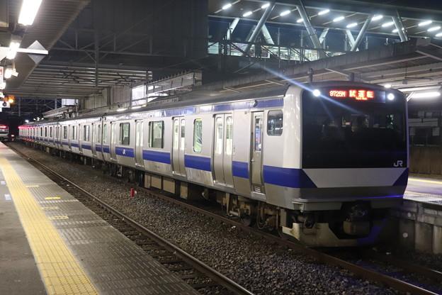 水戸線 E531系3000番台K551編成 試9725M ワンマン試運転 2021.01.15 (1)