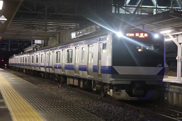 水戸線 E531系3000番台K551編成 試9725M ワンマン試運転 2021.01.15 (4)