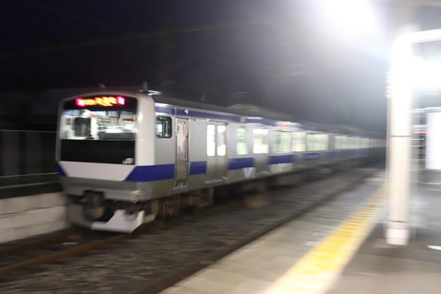水戸線 E531系3000番台K551編成 試9725M ワンマン試運転 友部駅発車 後追い 2021.01.15