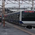 常磐線 E531系K414編成 323M 普通 高萩 行 水戸駅発車 2021.01.12