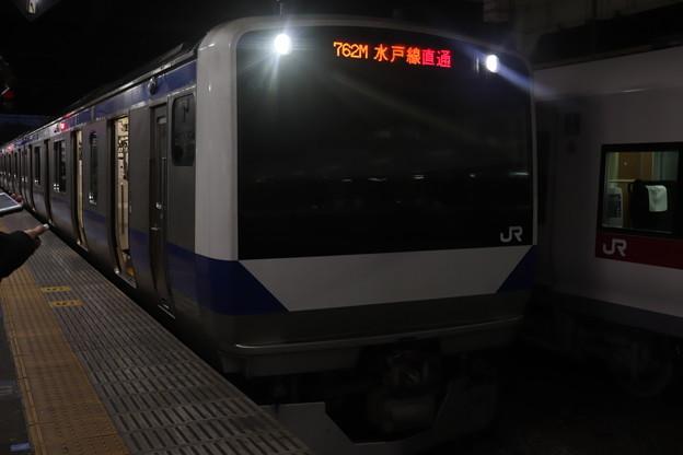 水戸線 E531系K457編成 762M 普通 小山 行 2021.01.12