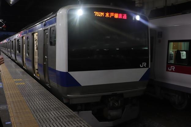 水戸線 E531系K457編成 762M 普通 小山 行 2021.01.12 (1)