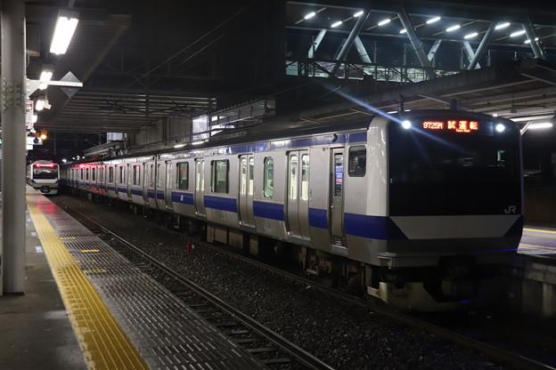 水戸線 E531系3000番台K551編成 試9725M ワンマン試運転 2021.01.12