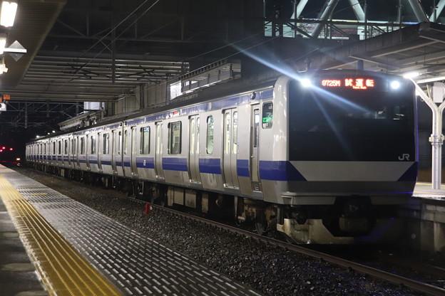 水戸線 E531系3000番台K551編成 試9725M ワンマン試運転 2021.01.12 (4)
