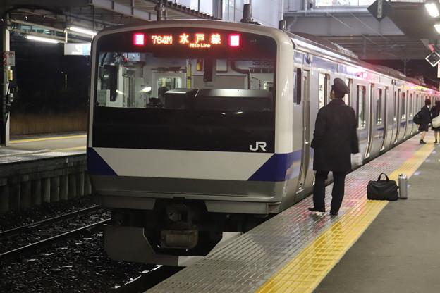 水戸線 E531系3000番台K554編成 757M 普通 友部 行 2021.01.12 (1)