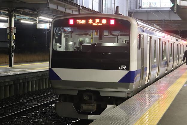 水戸線 E531系3000番台K554編成 757M 普通 友部 行 2021.01.12 (2)