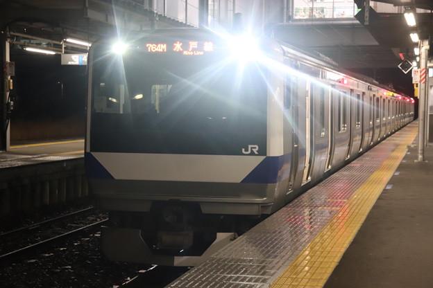 水戸線 E531系3000番台K554編成 764M 普通 小山 行 2021.01.12 (1)