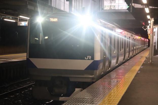 水戸線 E531系3000番台K554編成 764M 普通 小山 行 2021.01.12 (2)