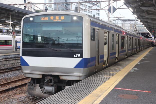 常磐線 E531系K426編成 323M 普通 高萩 行 2021.02.01