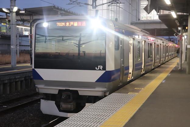 水戸線 E531系3000番台K554編成 762M 普通 小山 行 2021.02.01