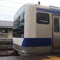 常磐線 E531系K402編成「笠間の栗」ラッピング 323M 普通 高萩 行 2021.02.02 (1)
