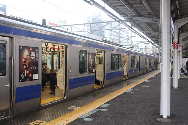 常磐線 E531系「笠間の栗」ラッピング 2021.02.02