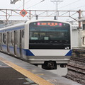 Photos: 常磐線 E531系K402編成「笠間の栗」ラッピング 323M 普通 高萩 行 後追い 2021.02.02