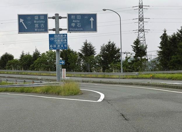 03.盛岡ICより国道46号線へ