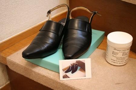 靴磨き&チェキで撮影