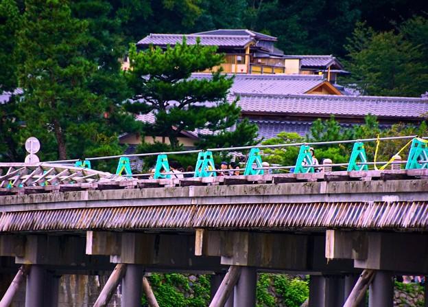 復旧修理 渡月橋